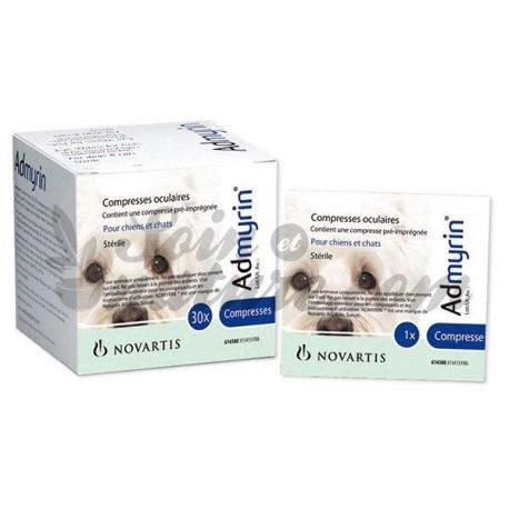 Admyrin 30 compresses oculaires chiens chats