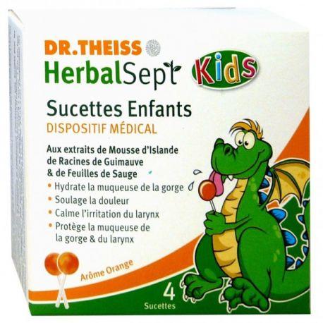 Dr. Theiss HerbalSept Lollipop Kids 4 bambini