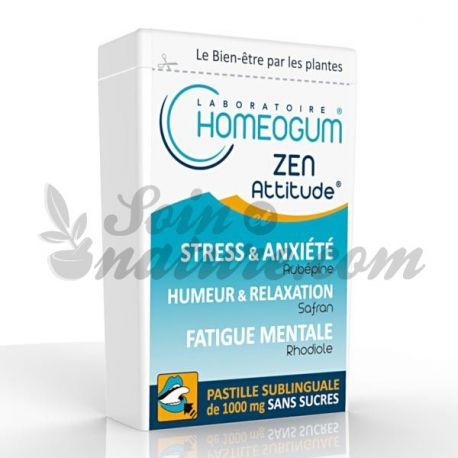 Homeogum Zen Attitude sublinguale Losanga Box 40g