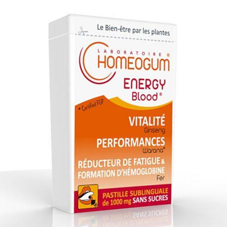 40 g Energía de sangre Homeogum sublingual Pastilla