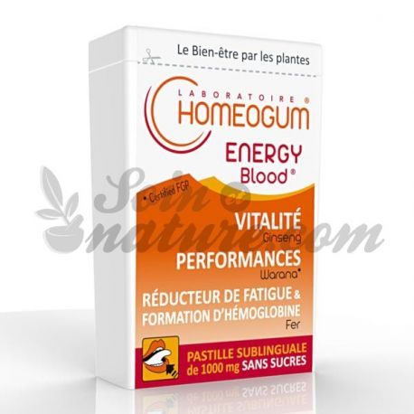 Energia sangue Homeogum sublingual Lozenge 40g