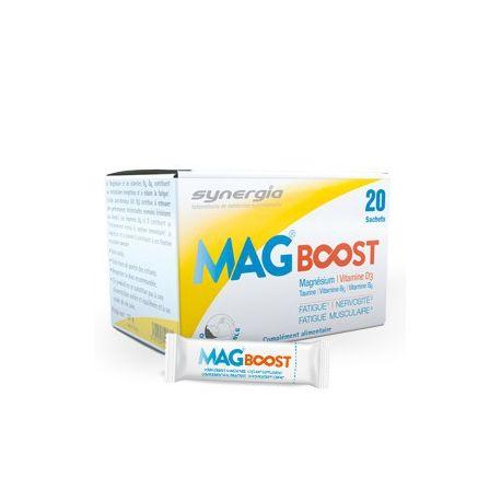 Impulsionar Mag lipossomal de magnésio orodispersível Synergia 20 saquetas