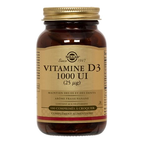 Solgar Vitamin D3 100 MASTICABLE