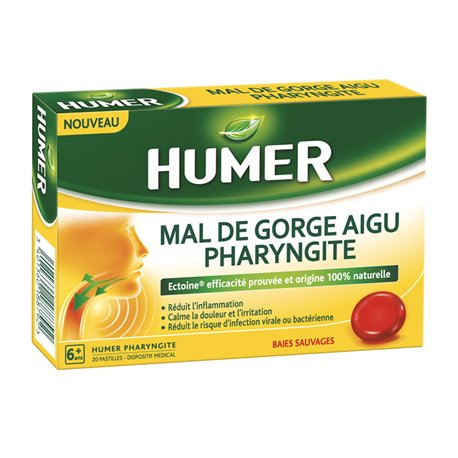 Humer Pharyngite 20 Pastilles