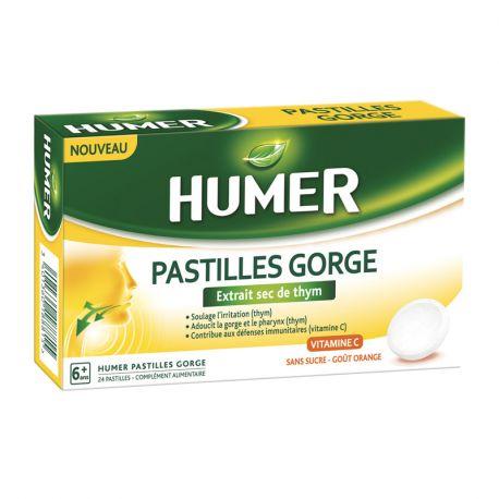 Humer 24 Pastilles Gorge Extrait Sec de Thym