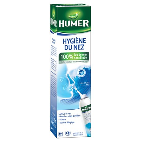 Humer estéril Nasal Spray 150 ml de agua de mar para adultos