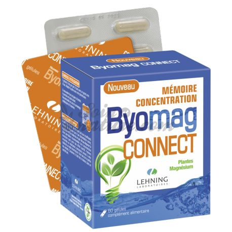 Byomag Connect Memory Concentration 60 Capsules