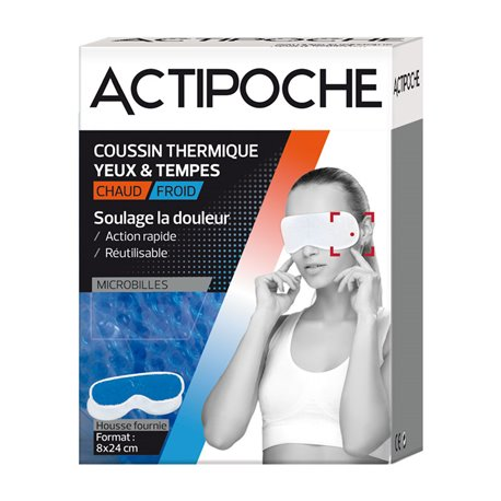 Actipoche Hot Koude Warmte Cushion Eyes en tempels Cooper
