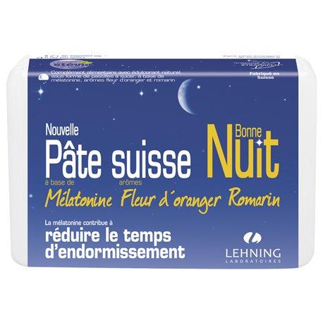 Pâte Suisse Bonne Nuit Mélatonine 40 Pastilles Lehning