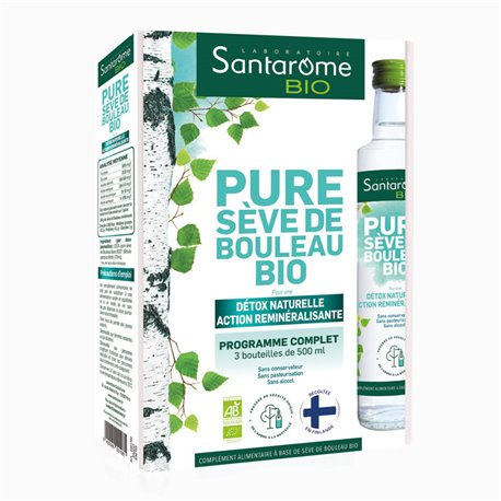 Birch VALIGIA SAP per 3 X 500ML SANTAROME