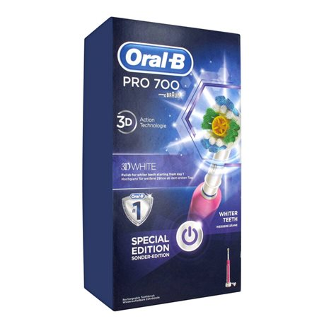 oral b pro 700 white clean brush teeth rechargeable. Black Bedroom Furniture Sets. Home Design Ideas