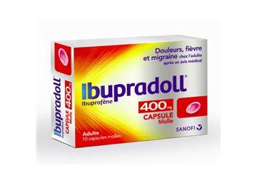 IBUPRADOLL Ibuprofen 400MG CAPSULES 10 Sanofi