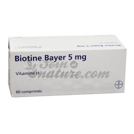BIOTINE 5MG BAYER 60 comprimés