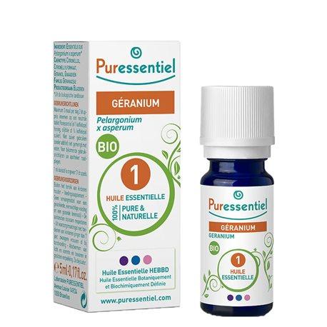 PURESSENTIEL Huile essentielle bio Géranium 5ml