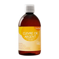 PurOligo Copper Gold Silver CU-OR-AG oligotherapy FL 250ML