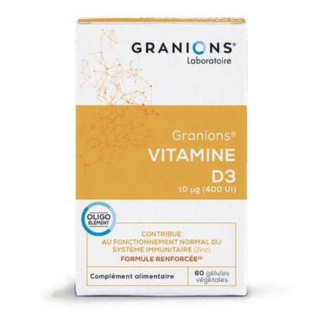 VITAMINE D3 ORIGINE VEGETALE 60 GELULES GRANIONS