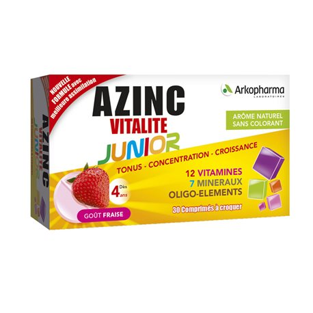AZINC OPTIMAL JUNIOR CPR STRAWBERRY FLAVOUR