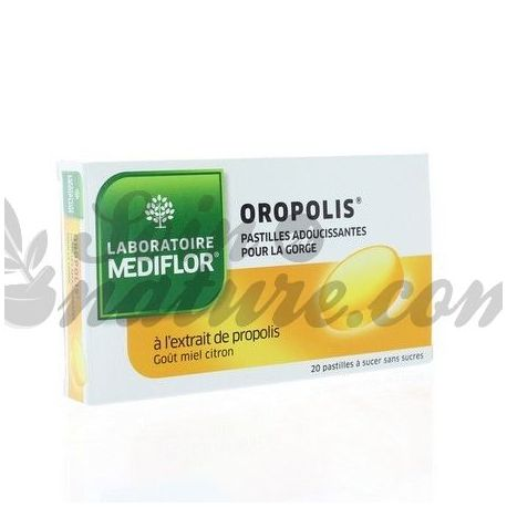 Oropolis Honey Lemon 20 pastilles calmants pròpolis