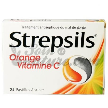 Strepsils ORANGE VITAMINA C COMPRESSE 24