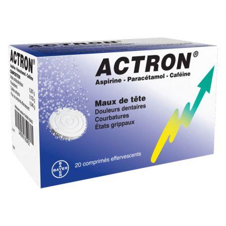 ACTRON aspirina cafeína paracetamol 20 cP