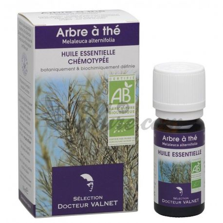 docteur valnet huile essentielle bio arbre th tea tree 10ml en vente dans notre pharmacie bio. Black Bedroom Furniture Sets. Home Design Ideas