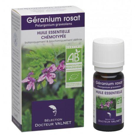 DOCTEUR VALNET Huile essentielle bio Géranium rosat 10ml
