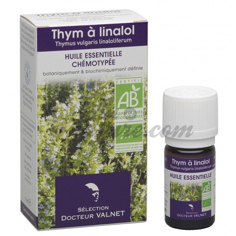 doctor valnet essential oil organic thyme linalol 5ml. Black Bedroom Furniture Sets. Home Design Ideas