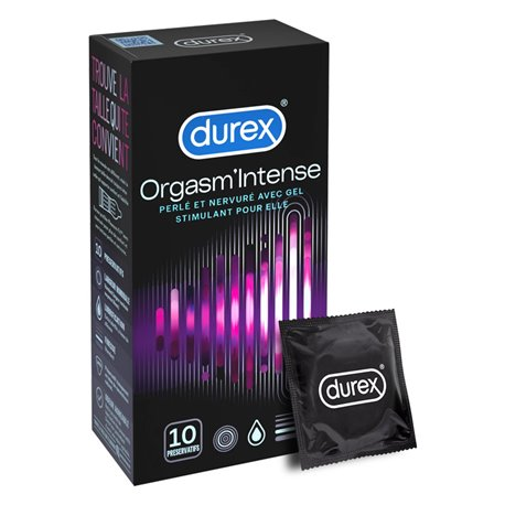 DUREX CONDOMS CONDOMS ORGASMIC ORGASM'INTENSE 10 FS