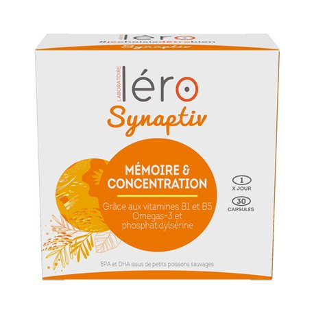 LERO SYNAPTIV concentration intellectuelle 30 capsules