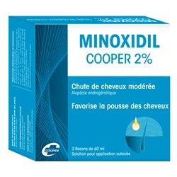 MINOXIDIL 2% Chute de cheveux COOPER 3x60ML