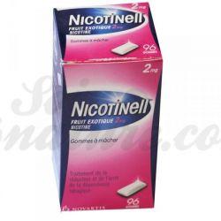 Nicotinell 2MG goma de nicotina TABACO ANTI Fruits exotiques