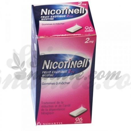 Nicotinell 2MG goma de nicotina TABACO ANTI Fruits exotiques