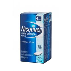 NICOTINELL NICOTINE ANTI-TABAC 4MG GOMME MENTHE S/