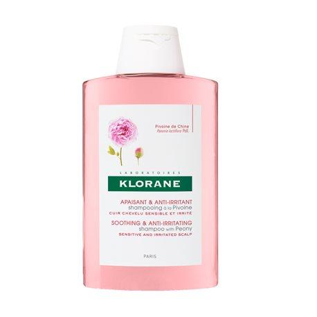 Xampú Klorane calmant amb l'ampolla de 200 ml d'extracte de peònia