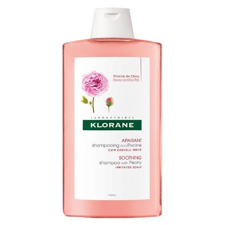 Klorane lenitivo shampoo con bottiglia 400ML estratto di peonia