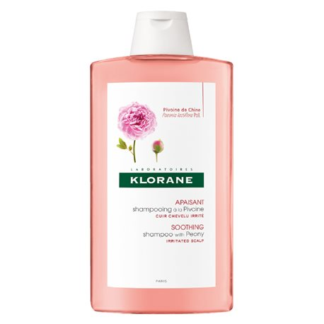 Klorane Soothing shampoo with peony extract 400ML bottle