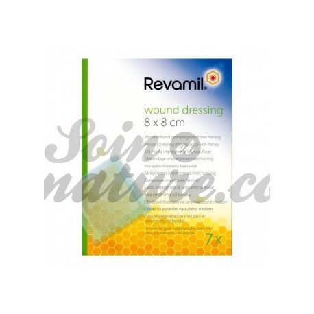 REVAMIL PANSEMENT AU MIEL WOUND DRESSING 8X8CM/7U