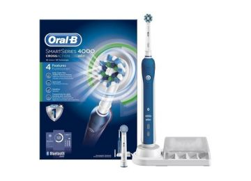 Brush Teeth Oral B Electric Rechargeable Smart Series 4000 Single Action