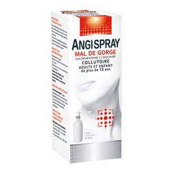 ANGISPRAY التهاب في الحلق MERCK الفم البالغ 40ML