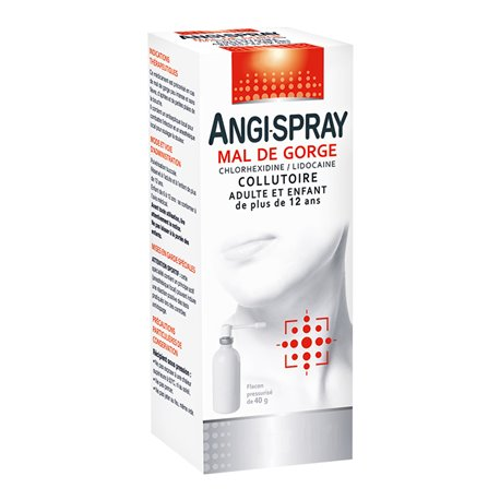 ANGISPRAY MAUX DE GORGE MERCK COLLUTOIRE ADULTE 40ML