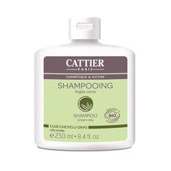 Cattier Shampooing Cuir Chevelu Gras Argile Verte 250ml