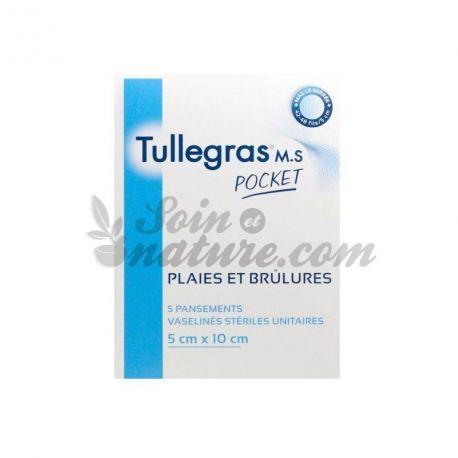 Tullegras MS Pocket Pansement Stérile Vaseliné 5x10cm
