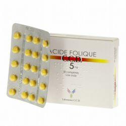 Acide Folique 5mg CCD 20 Comprimés