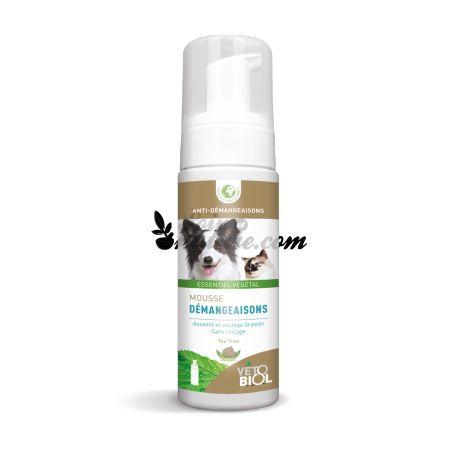 VETOBIOL Mousse démangeaisons chien et chat shampoing sec sans rinçage