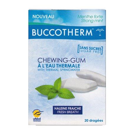BUCCOTHERM 20 CHEWING GUM SANS SUCRE à l'eau thermale