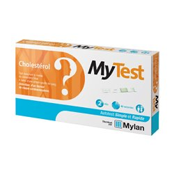Mytest Mylan Test Cholestérol Risque Cardiovasculaire 2 Kits