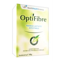 OPTIFIBRE fibre de Guar activité intestinale 16 sachets