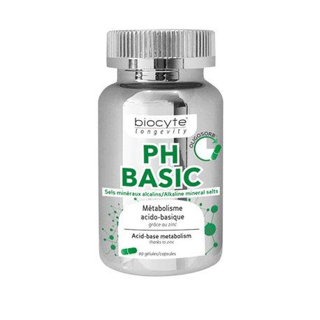 BIOCYTE LONGÉVITY PH BASIC équilibre acido-basique 90 Gélules