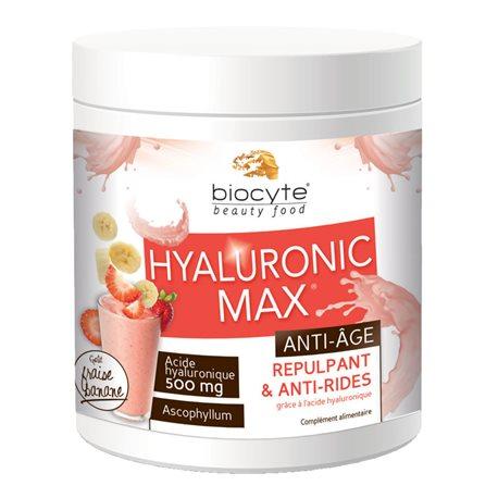 Biocyte HYALURONIC MAX Anti-rides boisson fraise banane 20 doses