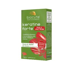 Biocyte KERATINE FORTE FULL SPECTRUM Force & vitalité du cheveu 40 Gélules
